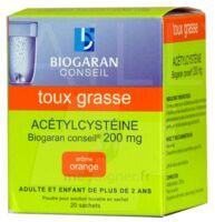 Acetylcysteine Biogaran Conseil 200 Mg Pdr Sol Buv En Sachet B/20 à Versailles