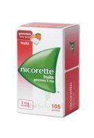 Nicorette 2 Mg Gomme à Mâcher Médicamenteuse Sans Sucre Fruits Plq/105 à Versailles