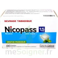 Nicopass 1,5 Mg Pastille Sans Sucre Menthe Fraîcheur Plq/96 à Versailles