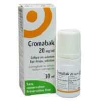 Cromabak 20 Mg/ml, Collyre En Solution à Versailles
