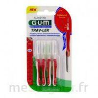 Gum Trav - Ler, 0,8 Mm, Manche Rouge , Blister 4 à Versailles